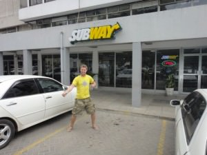 eating subway overseas