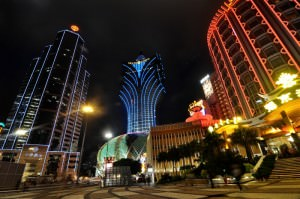 Macau Casinos at night