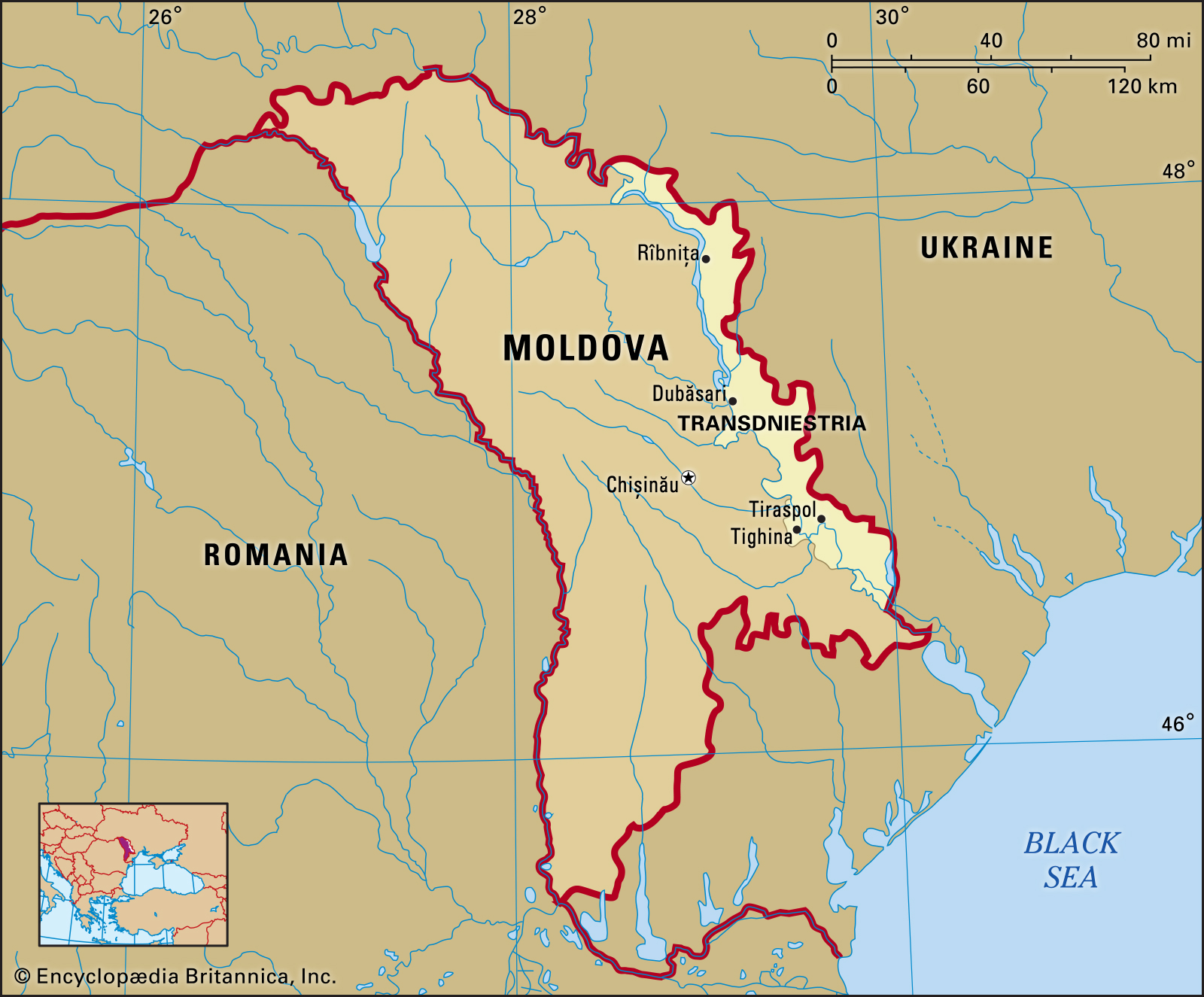 Where is Transnistria map