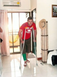 Broken leg in thailand