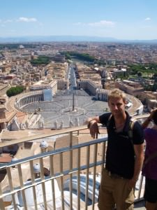 johnny ward and the view from basilica of st peter rome