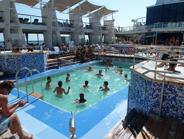 swimming pool on cruise ship