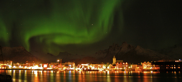 Northern lights Svolvaer Norway
