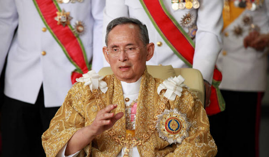 The Thai King is revered