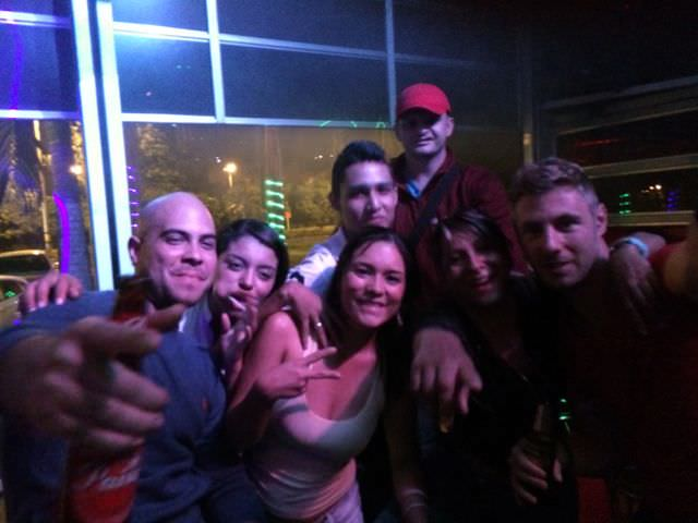Partying with friends from IH