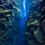 Snorkelling between two continents in Iceland