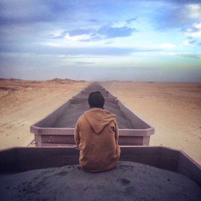 Iron ore train mauritania  from choum to nouadhibou,