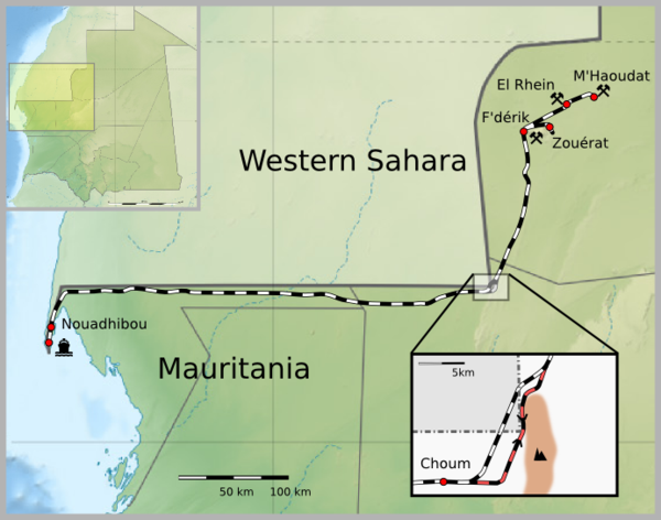 Mauritania train map