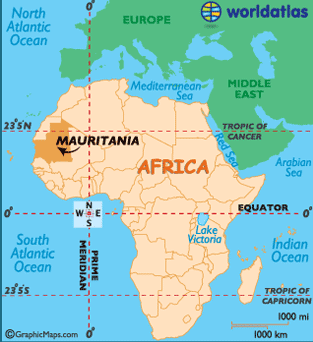 Where is Mauritania