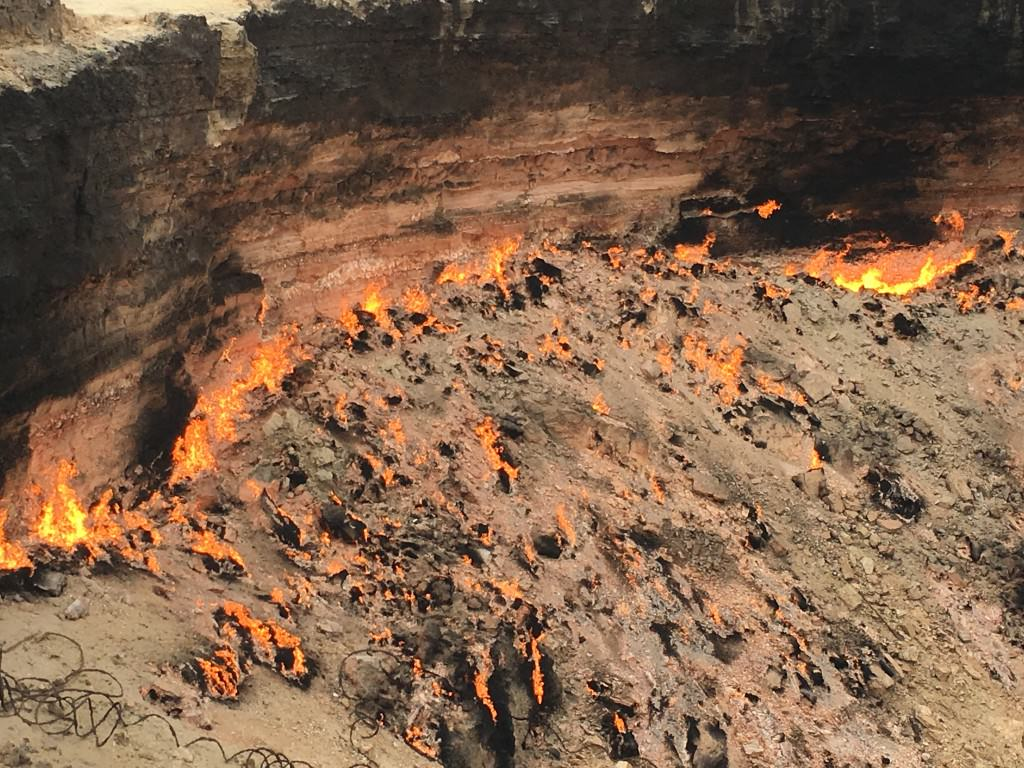 burning gas crater asia