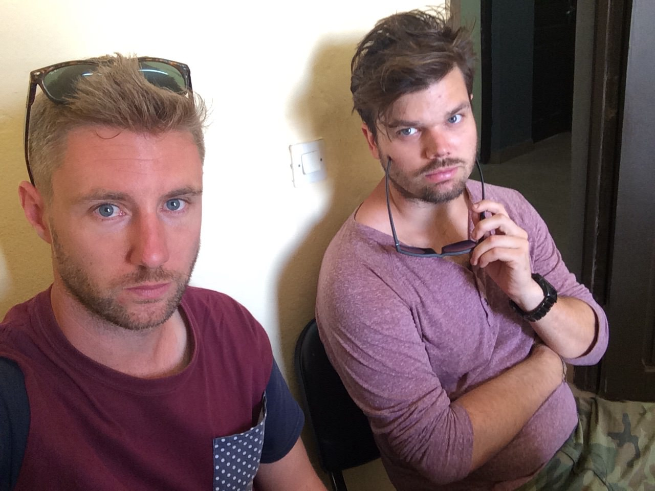 Waiting in the police station,   time for a quick snap!