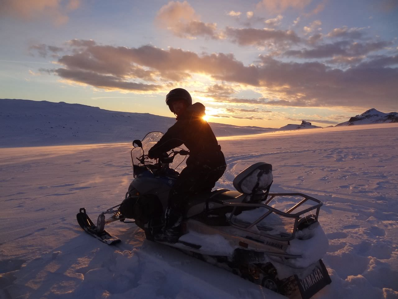 snowmobile iceland johnny ward