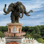 Visiting the Erawan Museum in Bangkok; The Giant 3 Headed Elephant in 2020