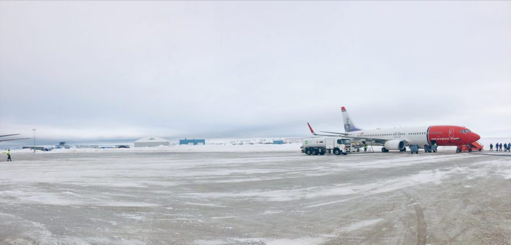 Landing in the Arctic Circle!