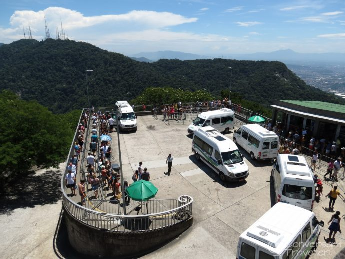 The vans to Christ the Redeemer