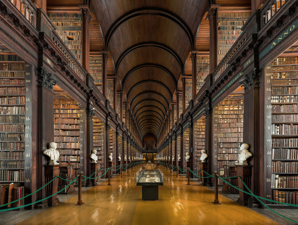 long room library, trinity college, dublin