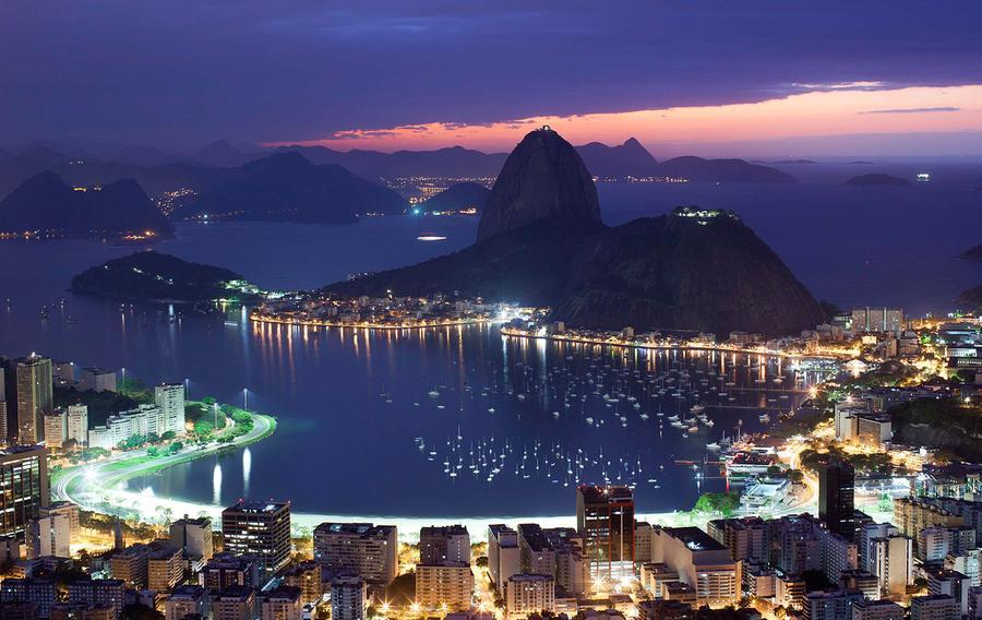 Christ the redeemer views at night