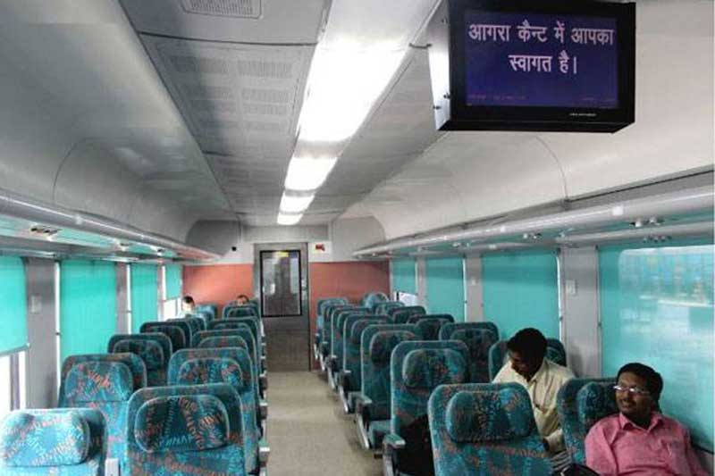 Train from Delhi to Agra AC class