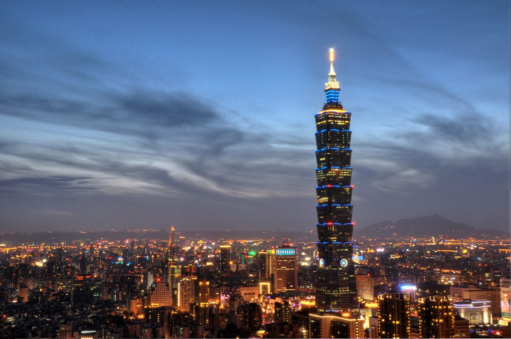 Elephant Mountain Taipei night