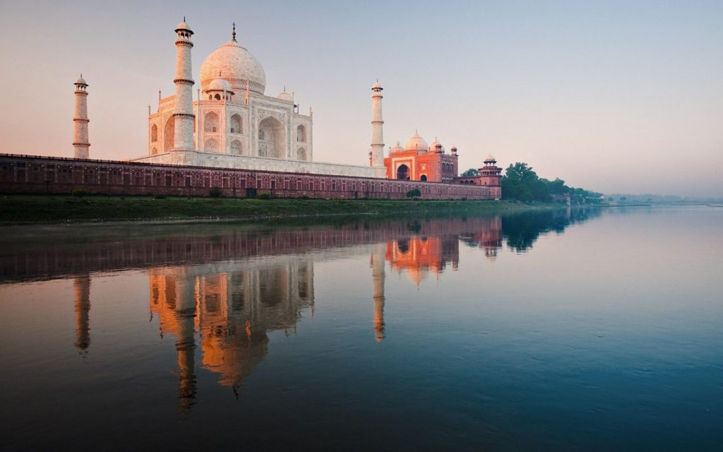 The Taj Mahal river photo
