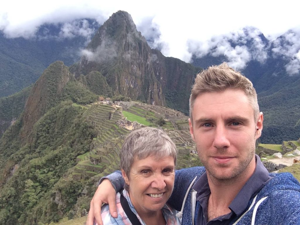 Mum and I at Machu Picchu, we made it!