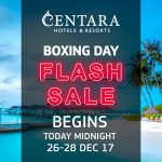 Centara Hotels in Thailand BOXING DAY SALE – 5* in Thailand, for example, for $29!