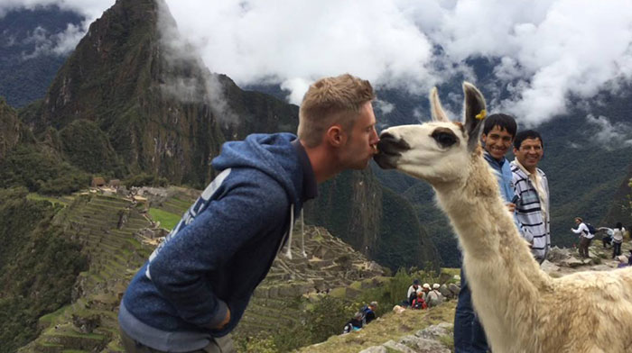 Making friends in Peru!