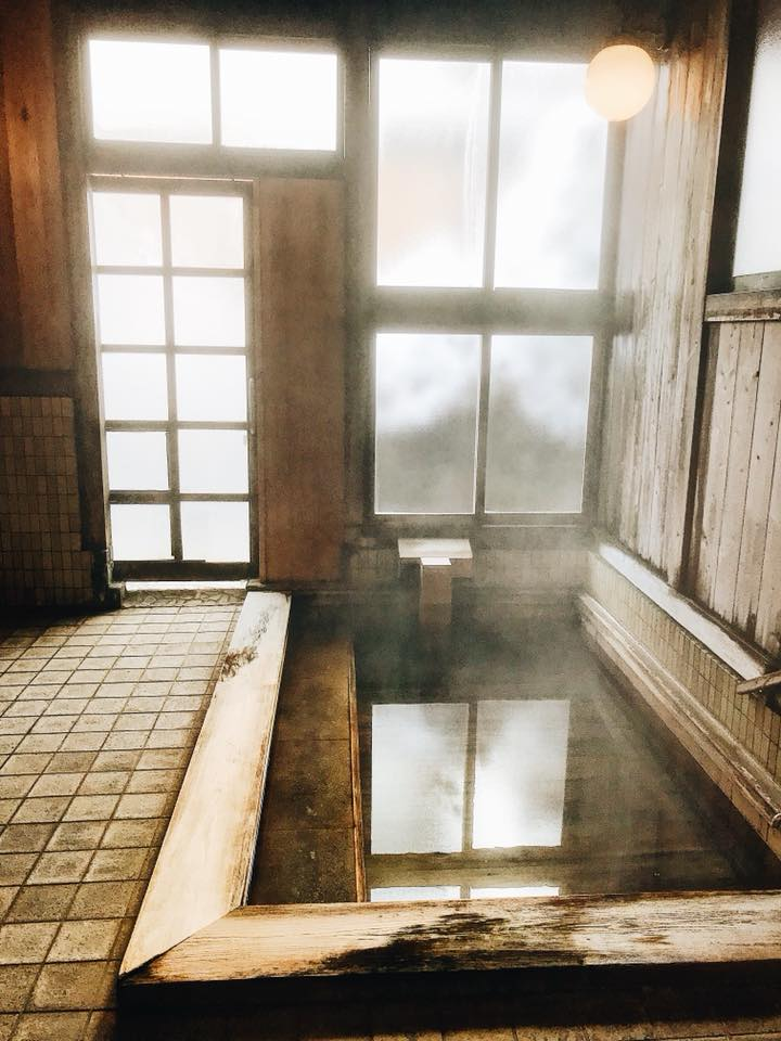 The indoor hotspring in my hotel