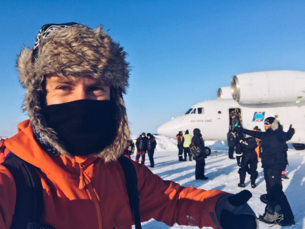 Landed at the North Pole
