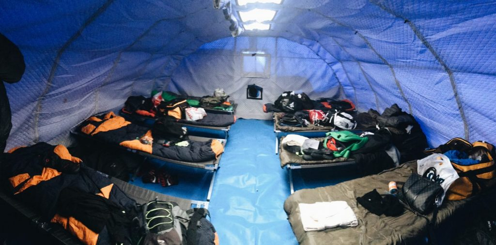 North Pole Marathon camp tent
