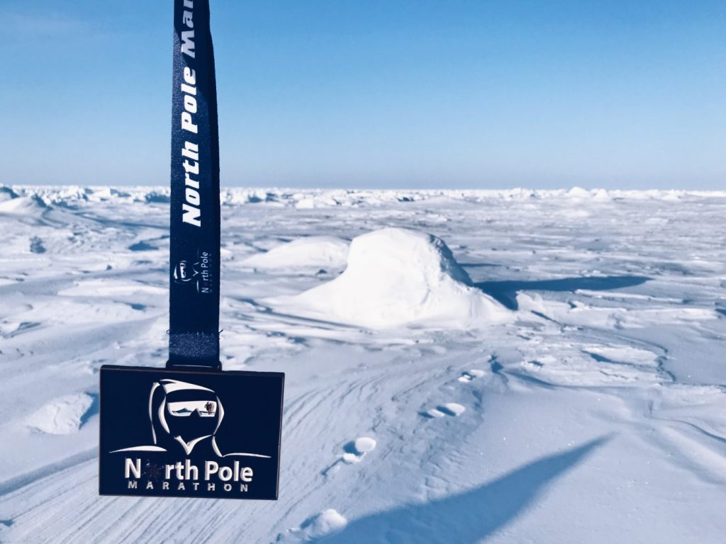 North Pole marathon record