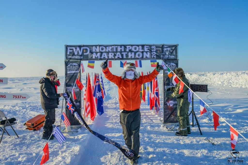 North Pole marathon winner