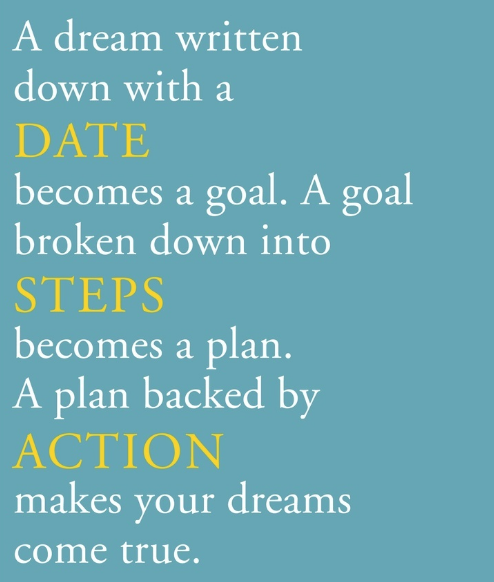 a dream, a goal, a plan