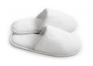 Free hotel slippers