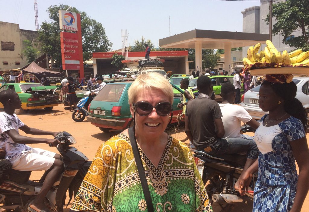 My mum's solo trip in Burkino Faso last year