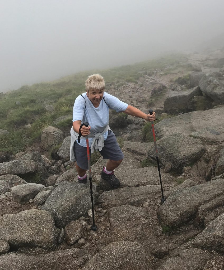 Mum training with me in Northern Ireland, climbing Slieve Donard, our nation's highest peak