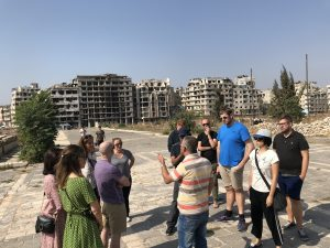 Our group tour in Syria, in Homs
