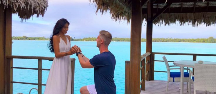 Getting engaged at St Regis Bora Bora