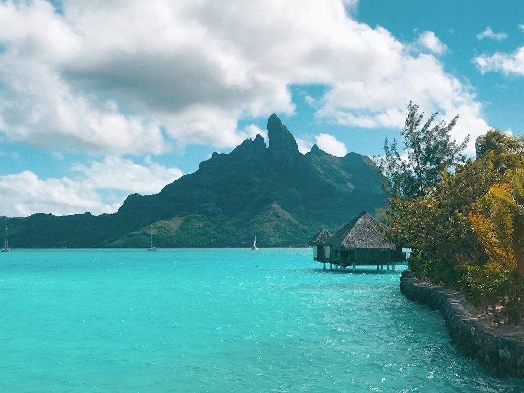 St Regis Water bungalow facing the mountain