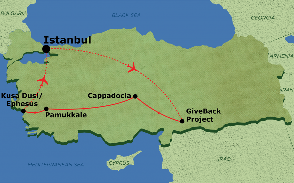 Our itinerary in Turkey