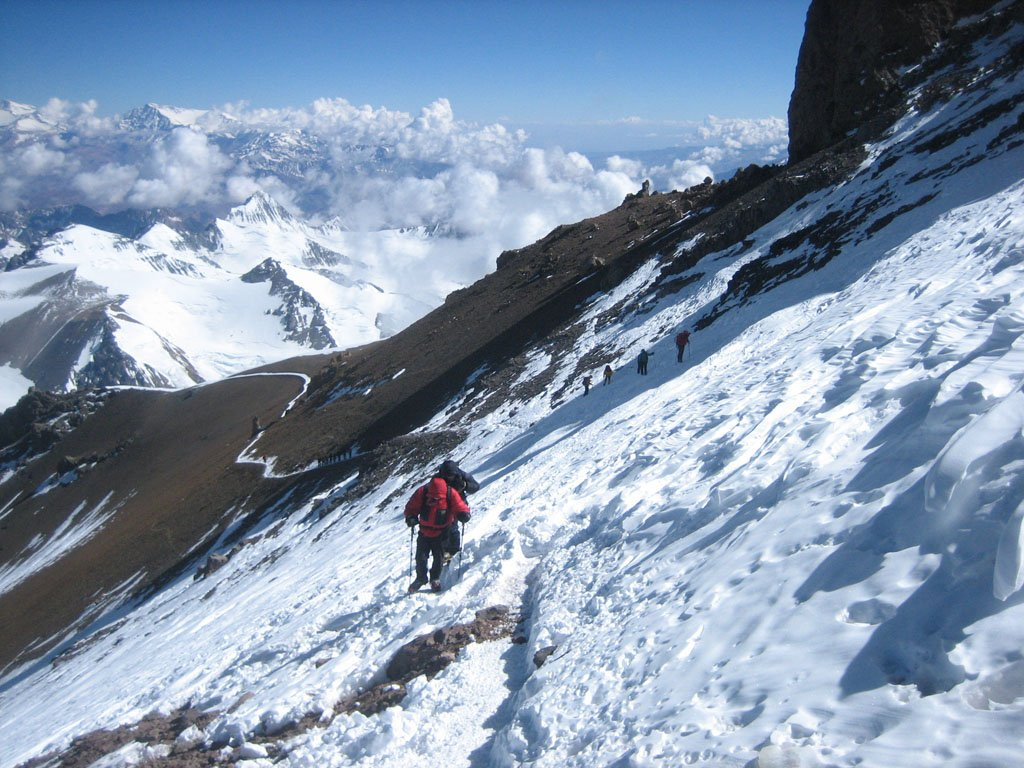 Crossing the Aconcagua traverse