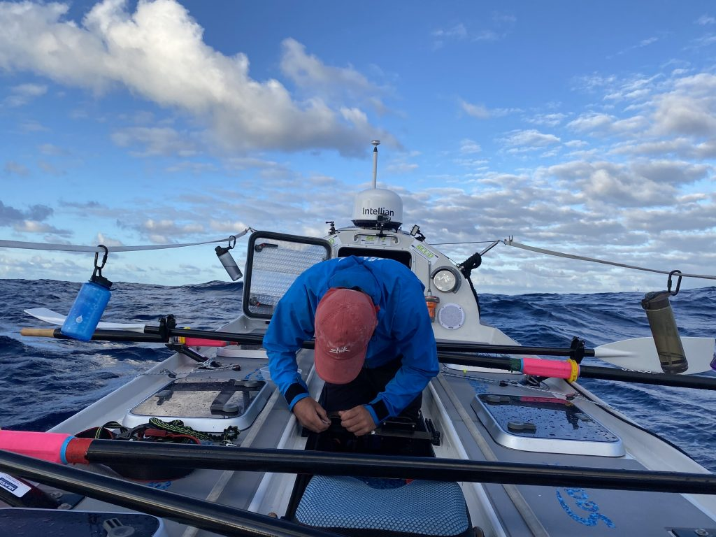 fixing the boat