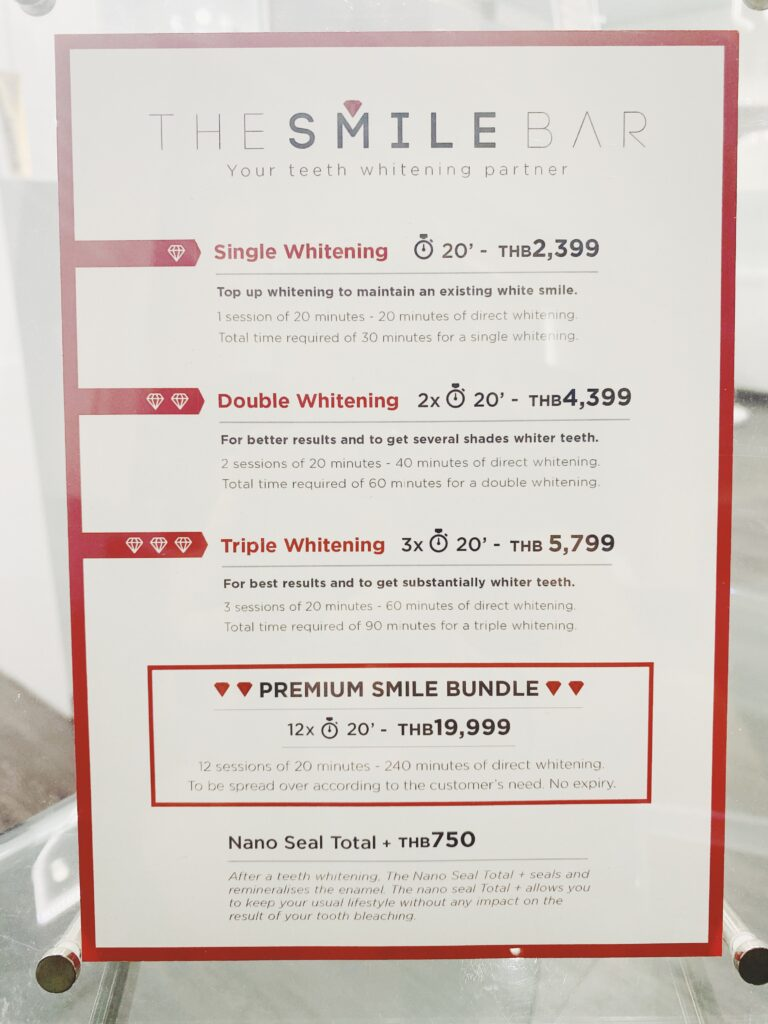Teeth Whitening Bangkok Cost