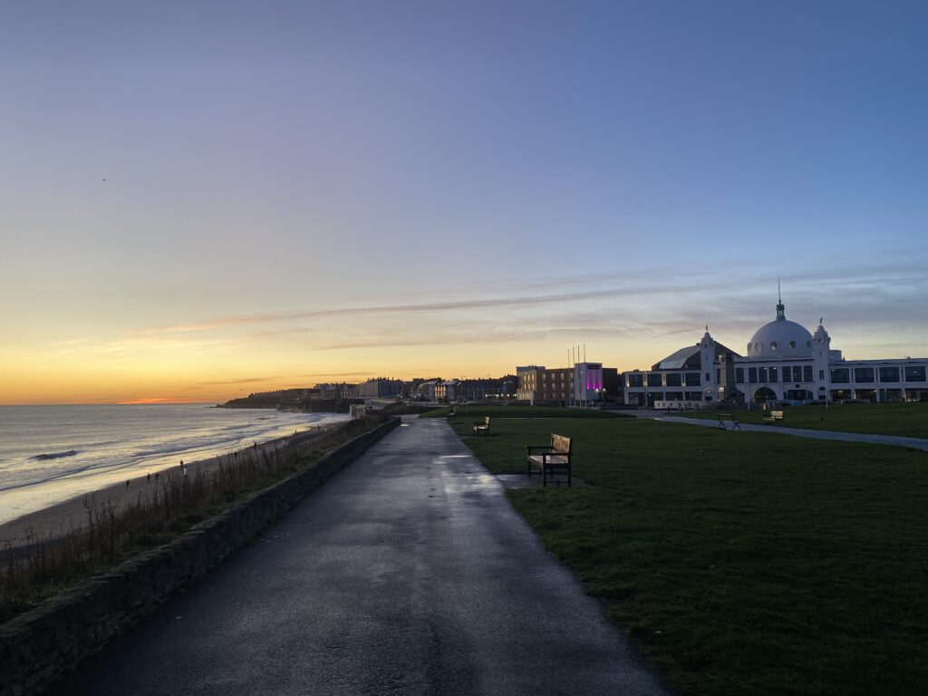 My sunrise run in Whitley Bay