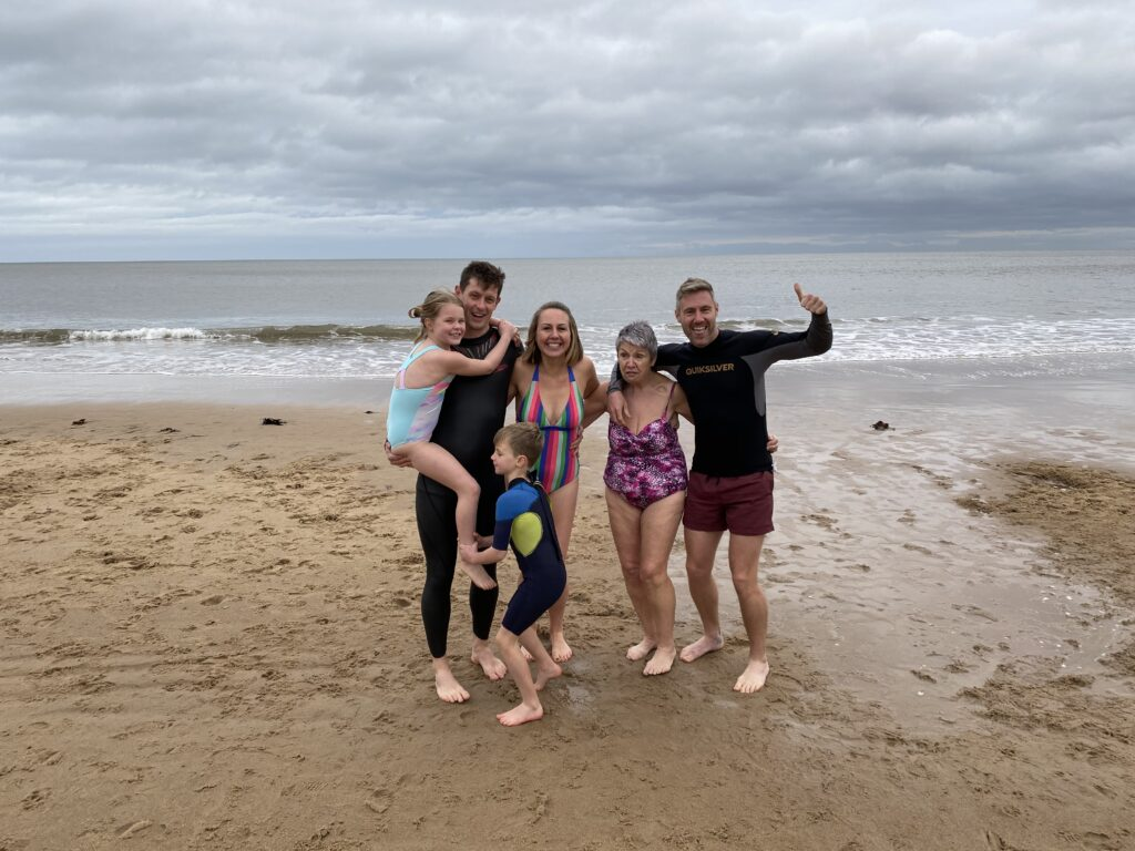 Christmas Day swim at Longsands beach